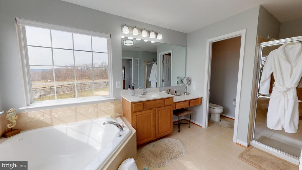 Soaking tub with peaceful view - 429 AUTUMN CHASE CT, PURCELLVILLE