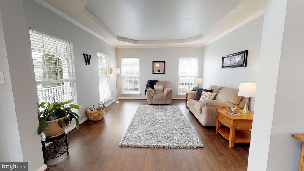 Inviting living room with eye-catching tray ceilin - 429 AUTUMN CHASE CT, PURCELLVILLE