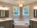 Master Bath with Double Vanity and soaking tub - 812 WEEDON ST, FREDERICKSBURG