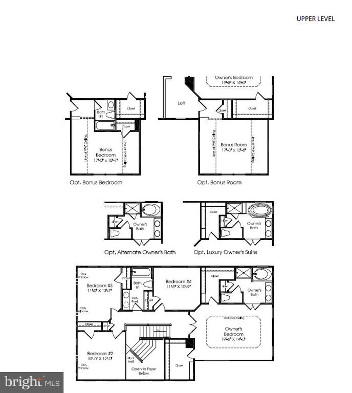 Upper Level Floorplan - 26003 KIMBERLY ROSE DR, CHANTILLY