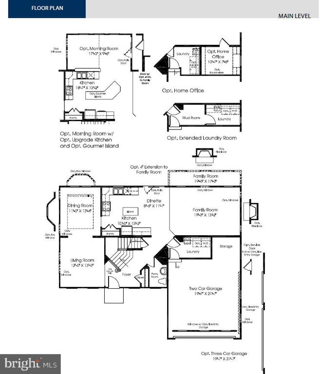Main Level Floorplan - 26003 KIMBERLY ROSE DR, CHANTILLY