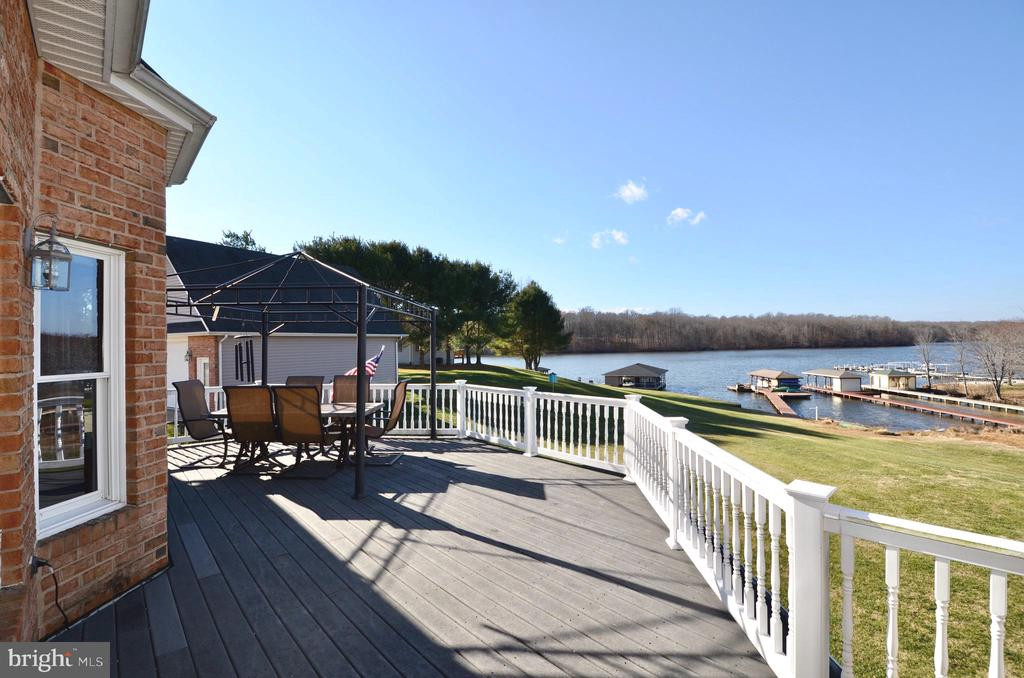 Panoramic views from deck. - 15805 BREAK WATER CT, MINERAL