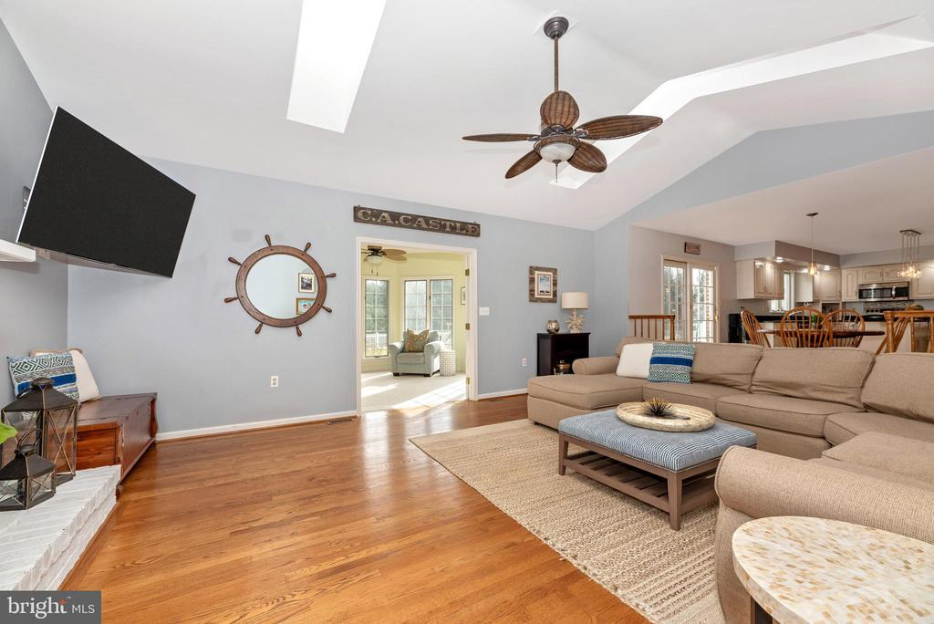 Brick fireplace and hearth - 8221 FOX HUNT LN, FREDERICK
