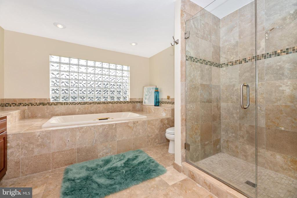 Gorgeous tile work and huge tub - 8221 FOX HUNT LN, FREDERICK