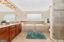 Large master bathroom - 8221 FOX HUNT LN, FREDERICK