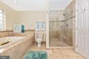 Frameless shower door - 8221 FOX HUNT LN, FREDERICK