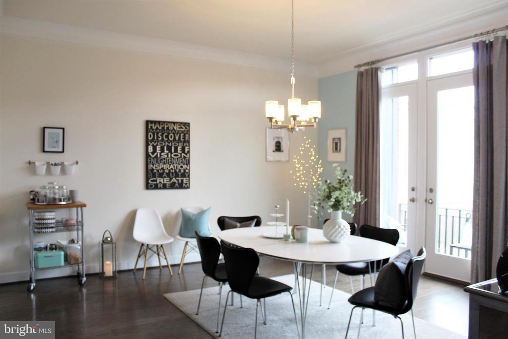 Dining Room w/Chandelier - 23100 LAVALLETTE SQ, BRAMBLETON