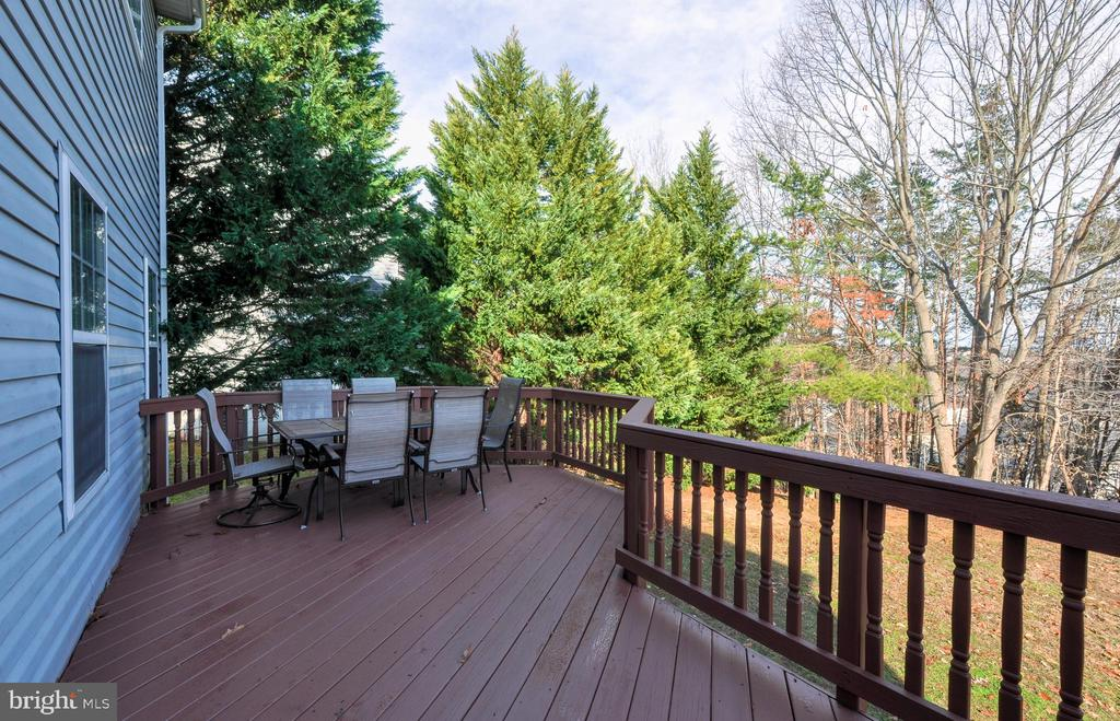 Newly re-stained/pressure washed deck - 8 NASSAU CT, STAFFORD