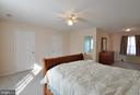 Master bedroom from view of 1 of 4 closets - 8 NASSAU CT, STAFFORD
