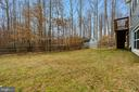 LARGE FENCED REAR YARD - 10008 WILLOW RIDGE WAY, SPOTSYLVANIA