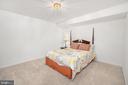 BEDROOM #5 ON THE LOWER LEVEL - 10008 WILLOW RIDGE WAY, SPOTSYLVANIA