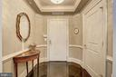 Inviting marble foyer - 4821 MONTGOMERY LN #401, BETHESDA