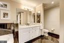 Master bath dual sink vanity w/ marble countertop - 4821 MONTGOMERY LN #401, BETHESDA