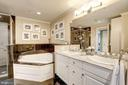 Master bath jetted tub - 4821 MONTGOMERY LN #401, BETHESDA