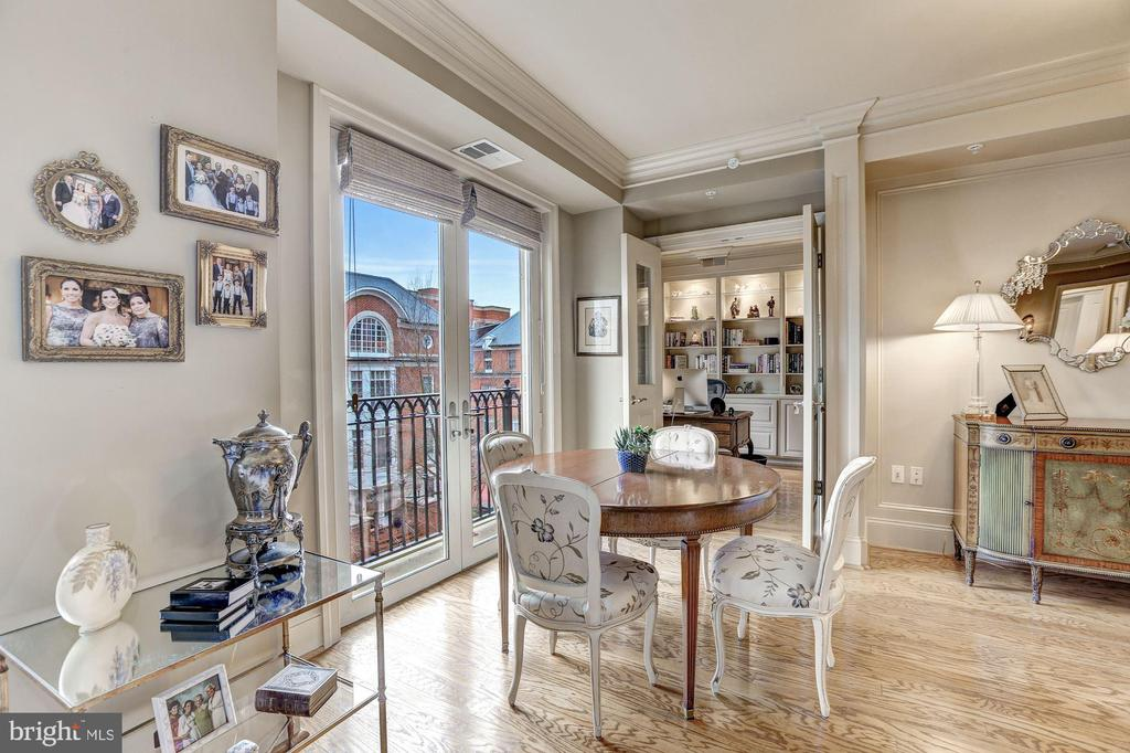 French doors to Juliet balcony - 4821 MONTGOMERY LN #401, BETHESDA
