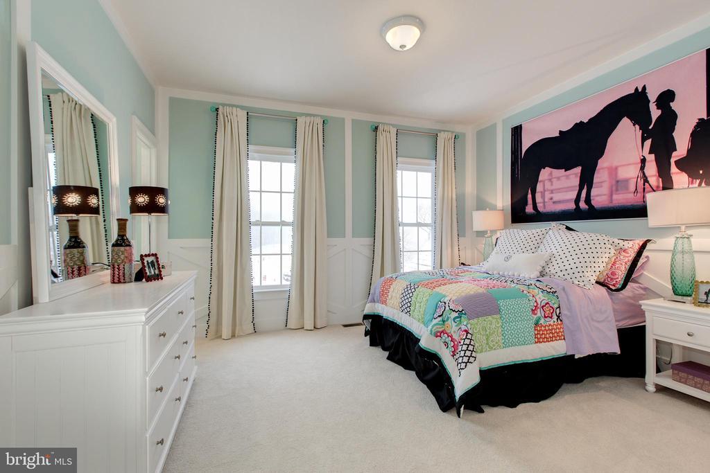 Bedroom 2 has custom wall details - 14732 RAPTOR RIDGE WAY, LEESBURG