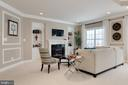 Owner's suite sitting area with gas fireplace - 14732 RAPTOR RIDGE WAY, LEESBURG