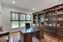Handsome Library with custom built-in bookcase - 3003 WEBER PL, OAKTON