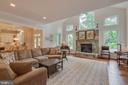 Family Room: gas fireplace and tranquil views - 3003 WEBER PL, OAKTON