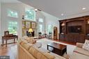 Family Room: custom built-in media center - 3003 WEBER PL, OAKTON