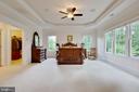 Master Bedroom: sunlit space under tray ceiling - 3003 WEBER PL, OAKTON