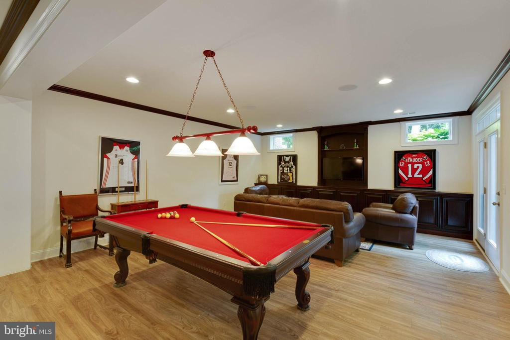 Gaming and Media Area, gas fireplace, full Walk-up - 3003 WEBER PL, OAKTON