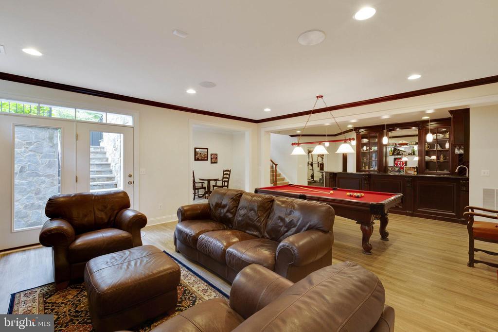 Recreation Room, Lower Level for Fun & Games! - 3003 WEBER PL, OAKTON