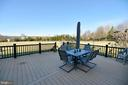Composite Deck with View of the Back Yard - 37894 ST FRANCIS CT, PURCELLVILLE