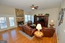 Sunken Family Room with Wood Burning Fireplace - 37894 ST FRANCIS CT, PURCELLVILLE