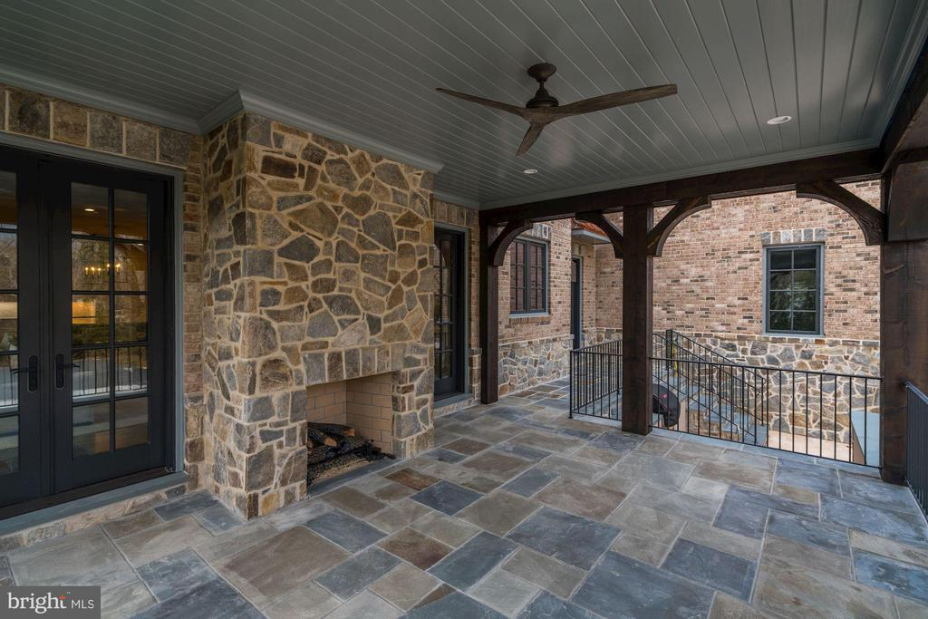 Loggia with Fireplace - 1418 KIRBY RD, MCLEAN