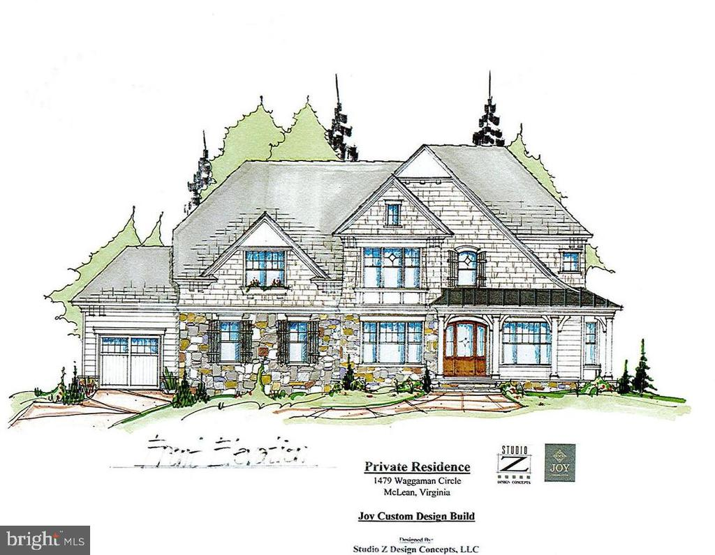 Quintessential Salona Village Home is planned for this great flat lot.  Blocks from the Restaurants and Shops of Downtown McLean yet deep in this wonderful community on quiet tree lined street.  Still time to customize Home with Joy Custom Design Build. Optional Elevator is available.