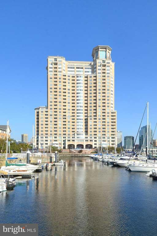 Stunning north views to the Inner Harbor from this 2BR, 2BA 16th floor unit! Marble Foyer, large LR & DR, Kit w/BreakfastRm w/built-in home office at picture window. MBR w/marble Ba & 2 walk-in closets. Additional BR, in-unit Laundry, HVAC 2017, 2 Decks. Hotel-like amenities include Concierge, Gym, indoor & outdoor Pools, Sauna, Meeting Rooms, Marina, valet parking. Short stroll to everything!