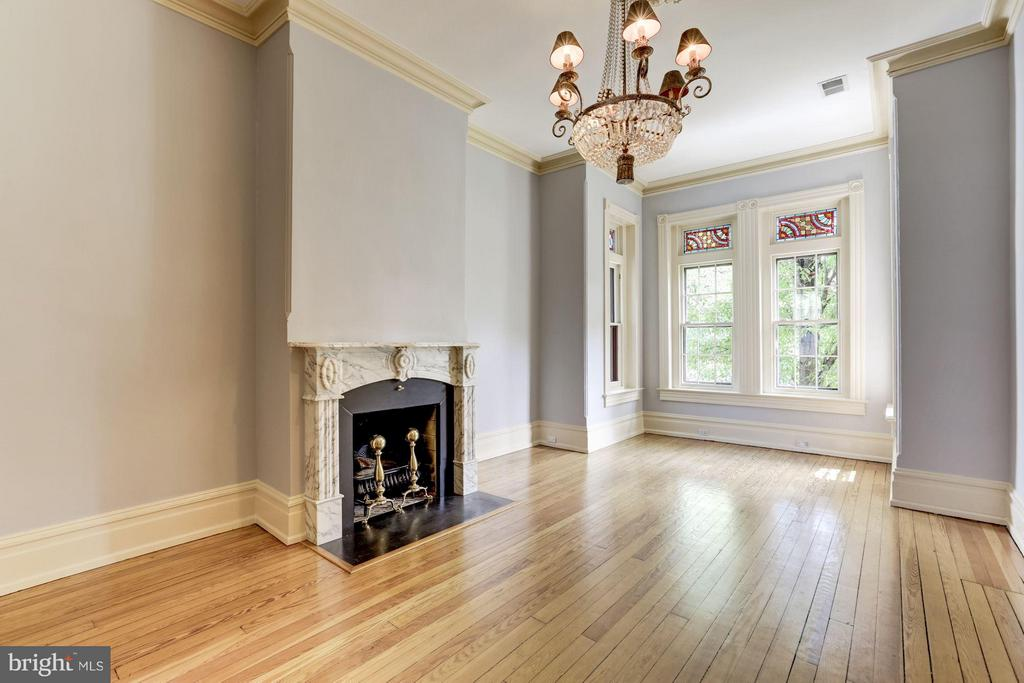 NEW PRICE! This Grand Capitol Hill 1878 Victorian boasts 4200+ sq ft! Turn this traditional gem into your forever dream home. Steps from The Supreme Court & Congress. Original hardwood pine floors, high ceilings on all levels, 5 fire places, ornate crown molding, gorgeous pocket doors, & abundant skylights. 5 bedrooms, 3 full baths, 2 half baths on main level. Massive 1200+ square foot master suite with luxury spa steam shower & jacuzzi. Meditation room, outdoor shower, custom kitchen fit for the finest caterers, hand-carved handrails, and large off street parking space.  Spacious basement with 1 bed 1 bath has certificate of occupancy, seperate laundry and ample extra storage accessible to basement and main house