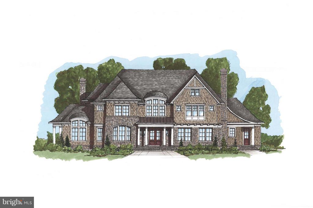 Artisan Builders to-be-build Classic American Shingle Style custom home. 8000+ sq ft, featuring 5 bedrooms, 5 full and 3 half baths, located in a gorgeous private retreat setting. Three finished levels, elaborate molding and trim, 3 fireplaces, 3+ car garage, custom gourmet kitchen, beautiful library. Room for pool and tennis courts.