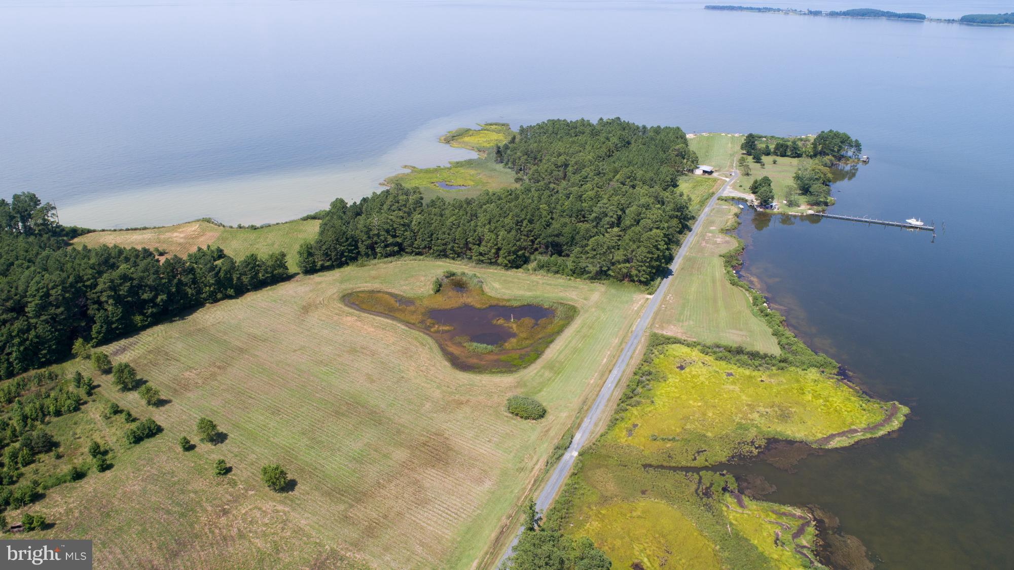 Spectacular Waterfront Lot on 11.4 acres with Views from almost every direction.  Come build your dream home on this private waterfront oasis.   SRA Recorded.  Property has water frontage on both the Chesapeake Bay and Brannocks Bay.  Abundant wildlife.