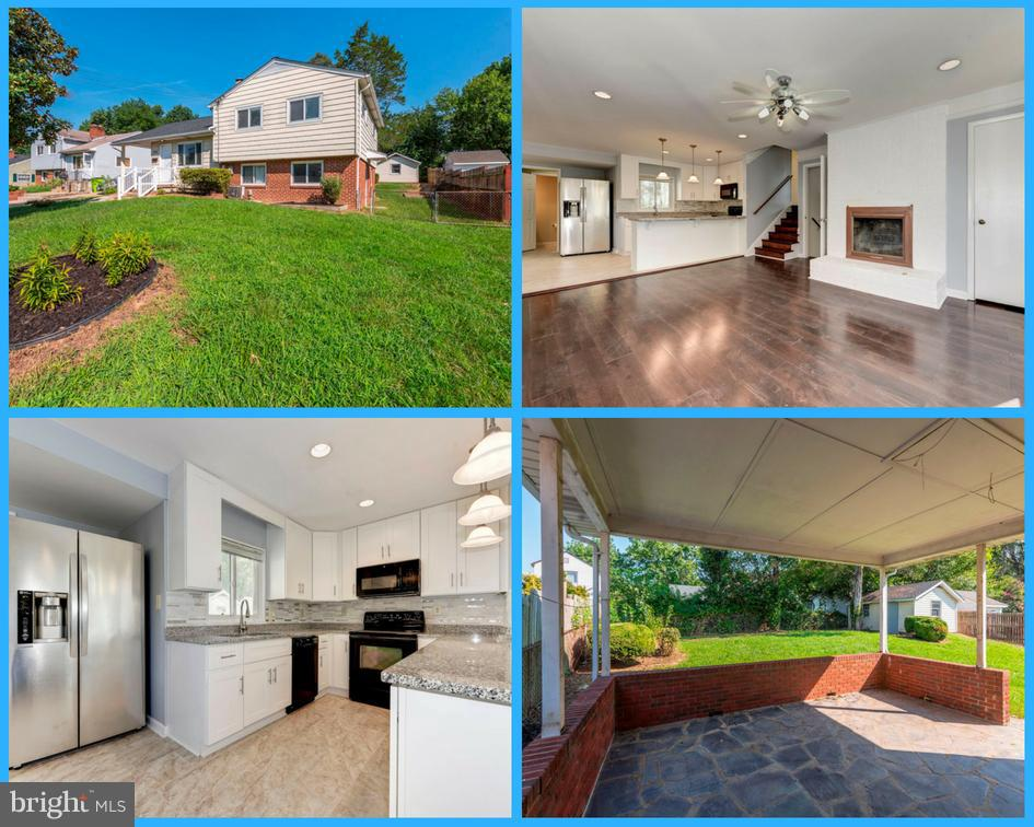 Newly remodeled kitchen with stainless steel appliances & granite countertops.  Hardwood and ceramic tile floor throughout all levels.  Lower level features kitchenette and secondary washer/dryer hookup, walkout level.  Covered patio, fully fenced backyard,  with Large shed for all your storage needs.  High rated schools!  Great location, close to interstate!
