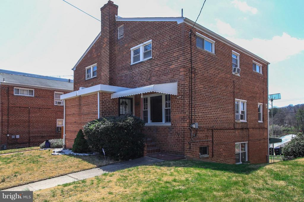Schedule showings online. Gorgeous semi-detached row house w/ sep dining room, walk-out bsmt, fenced yard perfect for family and friends. This home has a beautiful kitchen w/ SS appliances, vintage bath, and refinished wood floors. Great location just 1 blk to Fort Totten Metro. Sold as-is