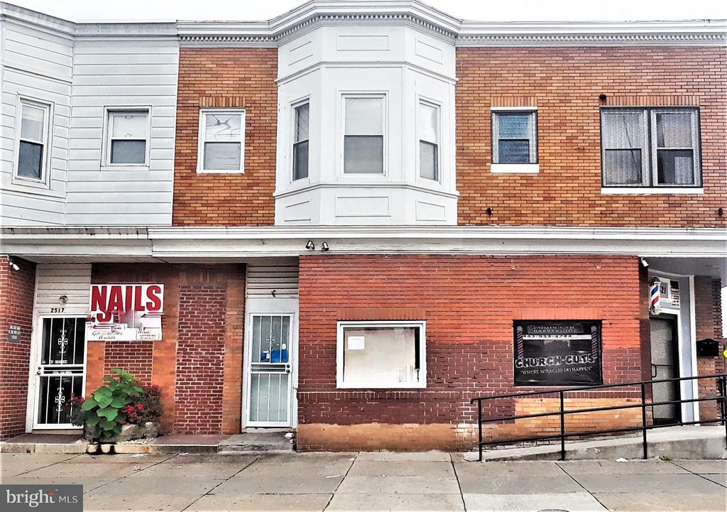 ***SELLER TO PAY ALL CLOSING COST***FULLY LEASED RENTAL PROPERTY***APARTMENT UNIT $800 PER MONTH***RETAIL SPACE $600 PER MONTH FOR A  TOTAL OF $1400 PER MONTH*** ZONED B-2-2:  1ST FLOOR COMMERCIAL STOREFRONT 1/2 BA * 2ND FLOOR APT: * PRIVATE ENTRANCE* 2BR 1 BA  REAR PARKING PAD* HUGE COVERED PORCH * GRANITE COUNTERS * KITCHEN ISLAND * WOOD FLOORS * CURRENT RENTS: STOREFRONT $600 PER MONTH / 2ND FLOOR APT $800 PER MONTH * MINUTES TO: * WASHINGTON VILLAGE * FEDERAL HILL *  INNER HARBOR * DOWNTOWN * U OF M * 295 & I95 *