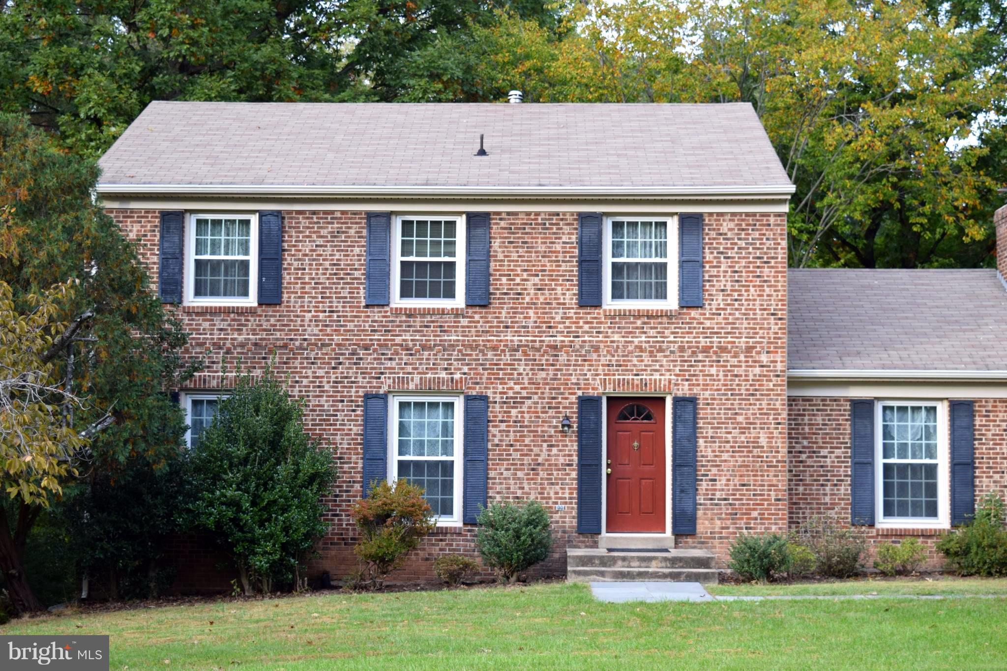 """**  Wonderful brick front Colonial !  ** 1 car garage with long driveway. ** Remodeled all the BATHS ! ** New Windows and all Exterior Doors. ** Spacious ! ** Updated kitchen with large breakfast area. Hardwood floors. Wonderful home in Popular """" Long Branch"""" Sub Division. Laundry in main level.*  Woodson H.S. District ! You will love it !"""