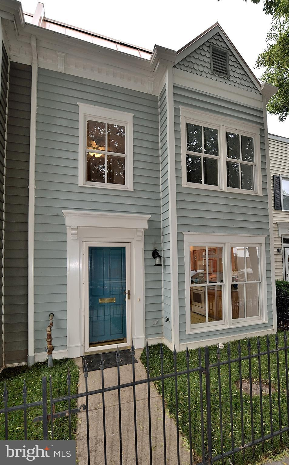 Priced below Tax Assessment. Large home in heart of Old Town w/1748 sq ft on 2 levels built in 2001. 3 BRs and 2 full & 1 half baths. Eat-in kitchen + formal dining room & sun-lit family room with gas FP. Huge master suite with bathroom and walk-in closet. Floored attic with 800 sq ft of storage. OFF STREET PARKING FOR 2 CARS!! Great yard. Metro 3 blocks.