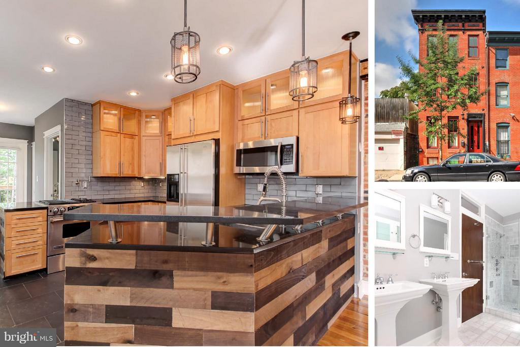 Simply gorgeous custom renovation!  Enjoy a gourmet kitchen, stainless appliances, hardwood floors, premium finishes throughout, fabricated steel open riser staircase, spa-like baths, upper level wet bar, multi-level deck, amazing rooftop views, exposed brick, gas fireplace, huge rooms & open floor plan.