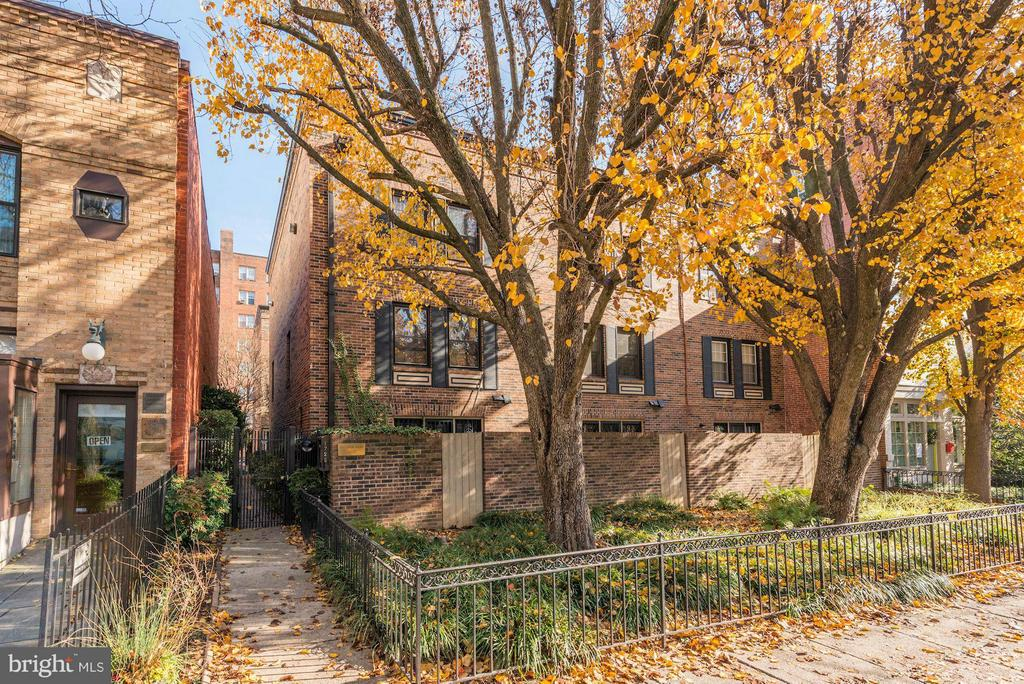 Welcome to this hidden gen in the heart of DuPont. This two-story end-unit townhouse condo has been recently remodeled. The property is within the exclusive, secure, and private within Decatur Mews gated community and features a well-designed floor plan flooded with natural light, windows on 3 sides, hardwood floor,  fireplace (for display only), remodeled kitchen with eat-in area, remodeled bathrooms, almost new HVAC, many recessed lights, and large closet spaces. Prioperty is a fantastic location with highest ranking for walkability, in close proximity to Red Metro Station, restaurants, shops, coffee shops and one of the  best Farmer Market in town. Great and secure city living at its best.  Rare, assigned parking conveys. PROPERTY IS OFFERED FOR SALE AND FOR RENT