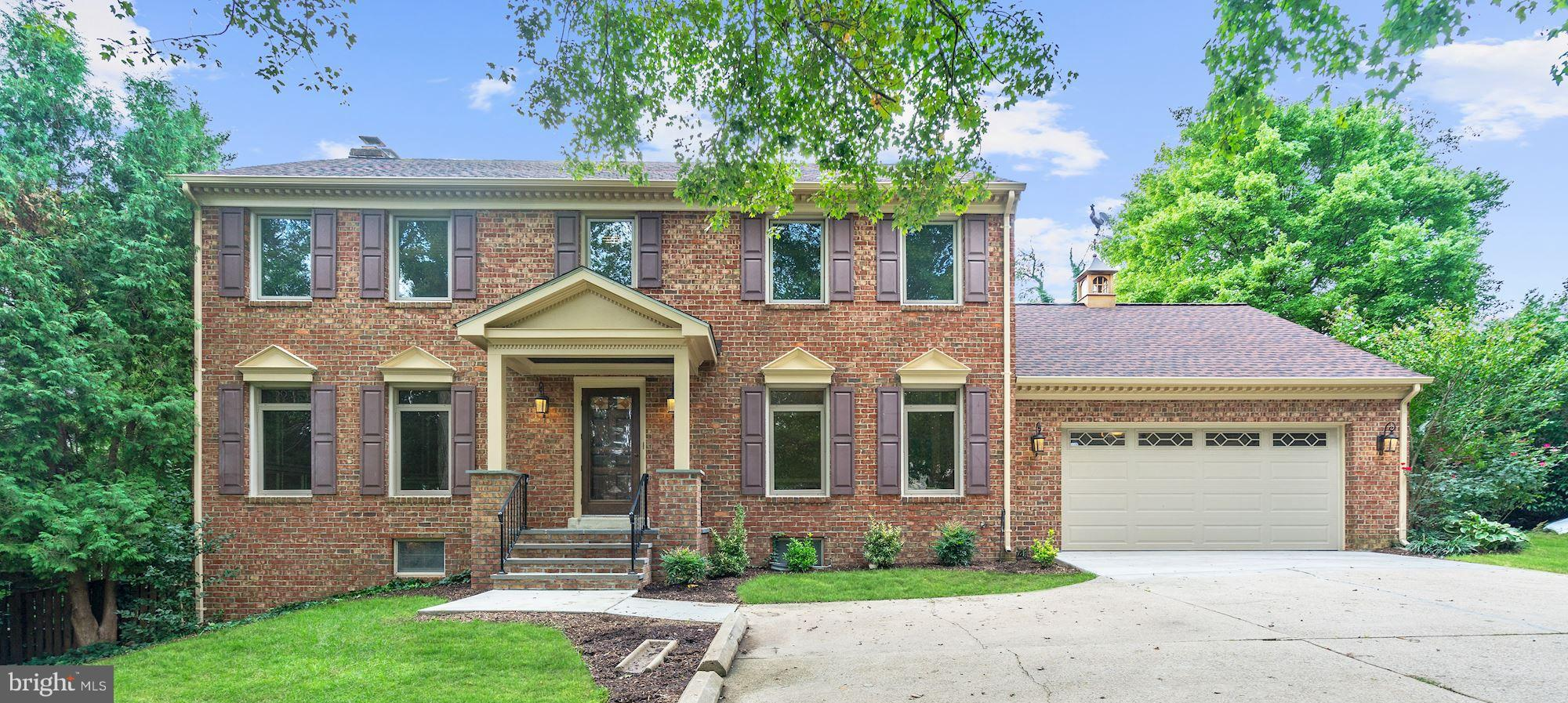 Wonderful all brick home on quiet cul-de-sac w/beautiful heated pool. 5 BR/3.5 BA. Recently renovated KT w/new cabinets, counters & appliances. Gorgeous sun room addition. Family rm. w/fpl & built-ins. Rec. rm. w/wood stove. Upgraded custom windows. Inlaw suite. Hardwood & tile floors. New vinyl floors in bsmt. Patio w/ firepit. New roof, hot water heater, bsmt door & front porch. Garagetek floor.