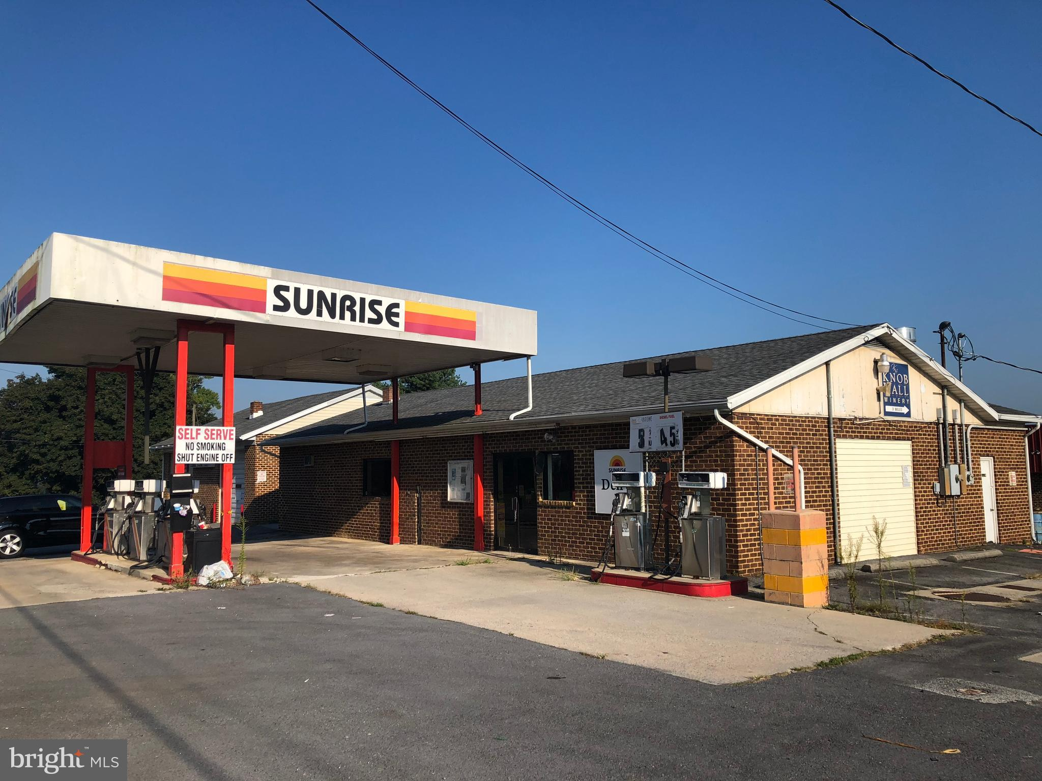 incredible owner investor opportunity for a gas station/convenient store combo! signalized intersection on National Pike and St Paul Road , has outstanding visibility. Convenience store includes and conveys most of the equipment