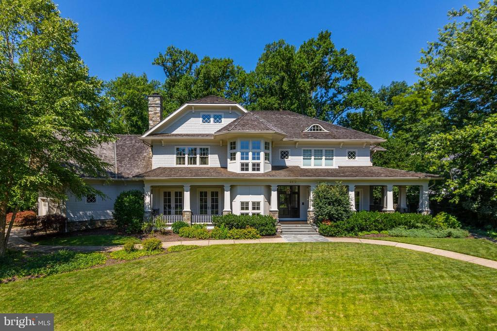 EXTRAORDINARY CUSTOM HOME (9300+SQFT) BY ACCLAIMED SANDY SPRING BUILDERS. DRAMATIC ENTRY FOYER, STUNNING KITCHEN + FAMILY ROOM, MORNING ROOM + EXQUISITE LIBRARY. PRIVATE UPPER LEVEL STUDIO + EXPANSIVE FINISHED LOWER LEVEL. INVITING WRAPAROUND PORCH. EXCEPTIONAL MATERIALS, DESIGN + FINISHES. FABULOUS LOCATION ONLY BLOCKS TO HEART OF DOWNTOWN BETHESDA.
