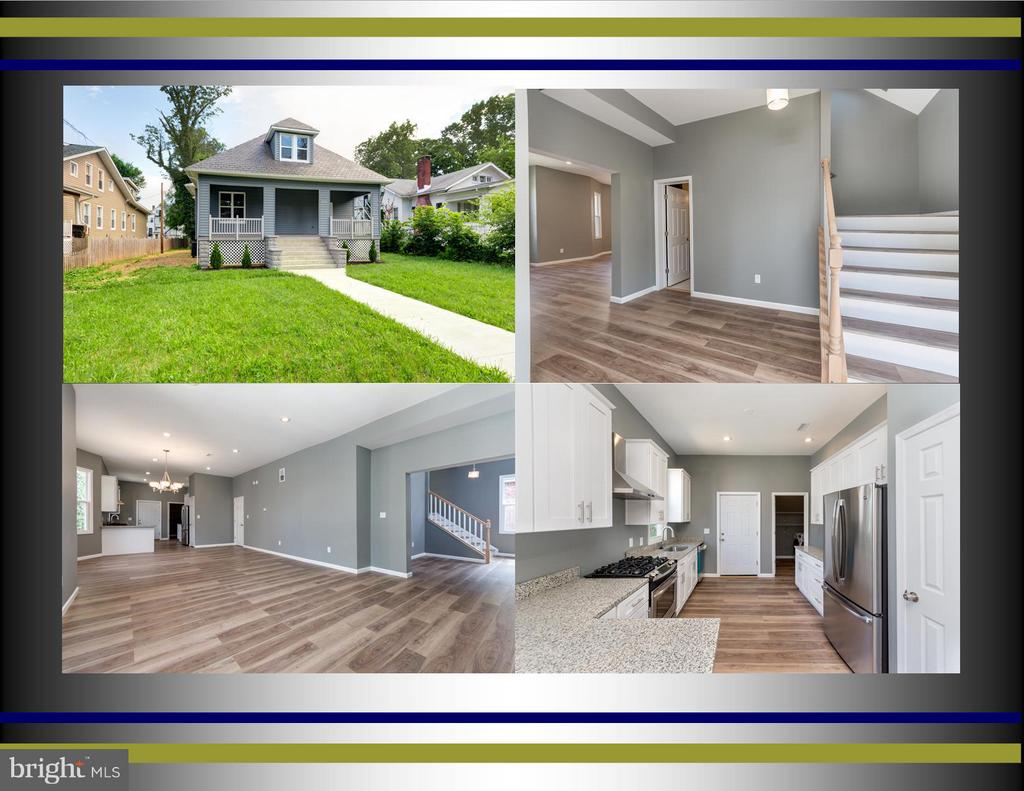 PRICE REDUCTION FOR QUICK  SALE !SELLER WILL CONSIDER ALL OFFERS! STUNNING RENOVATION FROM TOP TO BOTTOM in Forest Park!2300+ Sqft Living Area w/2 fin levels and huge unfin basement for tons of Storage,4BR /3.5Bas,Granite &SS appls in New Kitchen w/Pantry,Landry room,Dining Rm, MBD on2nd level w/ walk in closet & bath and private entrance to sunroom,Hardw floors,Front Porch. Landscaped fenced backyard, Parking Pad for 6cars in Rear.JUST MOVE IN!