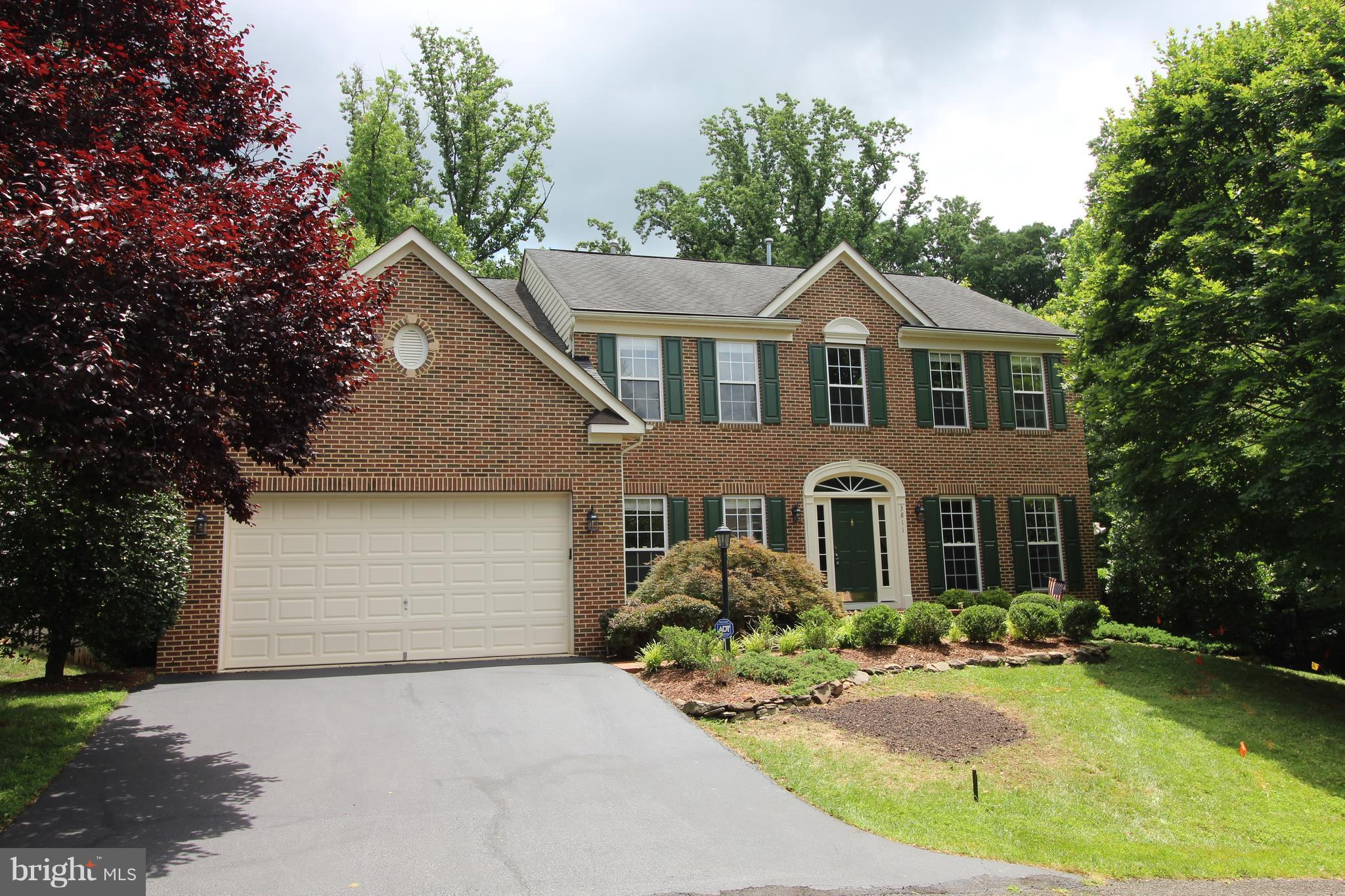 Close in Private getaway near Historic Mount Vernon!  Gorgeous 5 BR/3.5 BA Colonial on 1/3+ acre features Beautiful Hardwoods, Gourmet Kitchen w/oversized island adjoins the Sun Room & spacious Family Room w/Stone raised hearth FP on the main lvl.  Upper lvl features a Luxurious Master Suite & 3 addt~l spacious BR~s/FBA.  The W/O lower lvl features a BR/FBA, Game Room, Rec Room & loads of Storage.