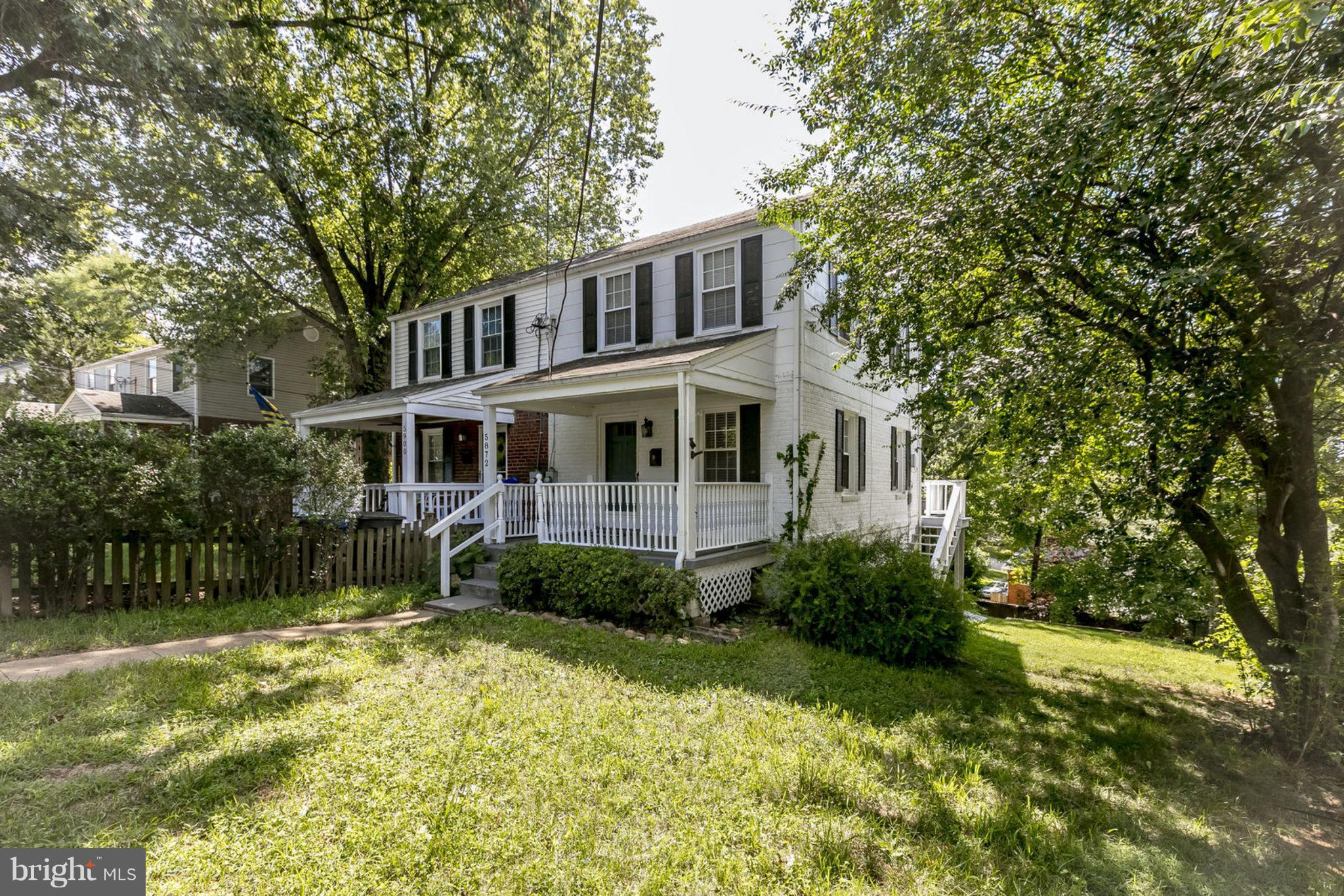 Price Reduction!!!  Charming Jefferson Manor duplex! 8 min walk to Metro. Large fenced yard, lovely front porch, back deck & storage shed. Fully finished basement with walk out (one of the few JM and lower deck. Opened kitchen with slider to the back deck.  Freshly painted.  Easy parking.