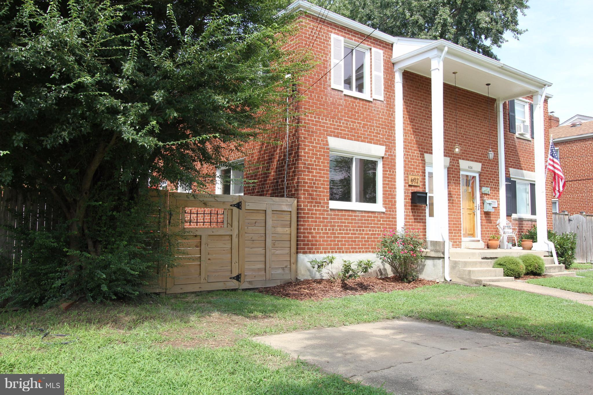 All brick duplex with fenced yard many upgrades Quiet neighborhood off Van Dorn Street. Hardwood floors on main level and all 3 bedrooms upstairs. Newly renovated eat-in kitchen with custom cabinets, granite counters and vintage farm sink. Renovated full bath, new roof & gutters, oak Fr Dr, New HVAC system, off-street parking. All contact should be through Owner Only.