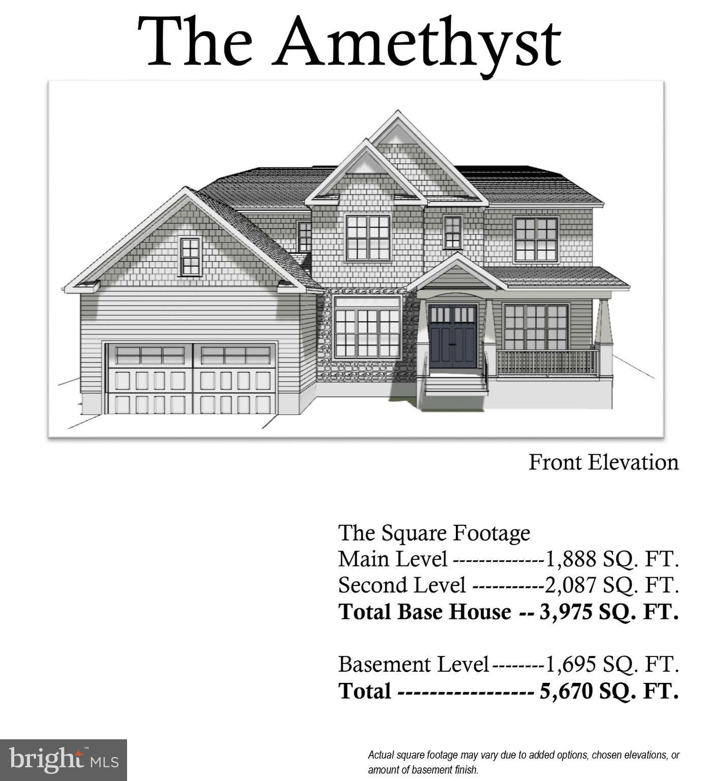 New community of 4 luxury homes! 6 floor plans available-From 3900 to 9300 sqft!Gorgeous Amethyst model with 4 bed 3.5 baths 2 cars shown in the listing. Gallery kitchen, granite counter, stainless Appliances.Hardwood floor.July special $35,000 incentive toward finished basement! Hurry! Perfect location inside 495. Minutes to 495,395.